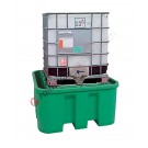 IBC pallet 1100 liter in polyethylene with support table 1580 x 1520 x 720 mm