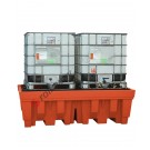 IBC pallet 1400 liter in polyethylene with grid 2400 x 1420 x 740 mm