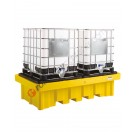 Ibc pallet 1150 lt in polyethylene with grid 2540 x 1370 x 650 mm