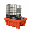 IBC pallet 1070 liter in polyethylene with grid and pouch 1420 x 1800 x 770 mm