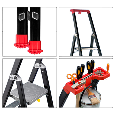 Details platform ladder professional anodized Marea Tech